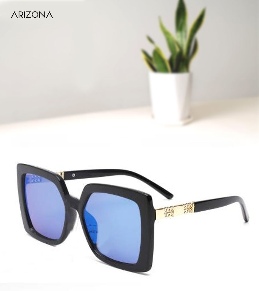 Arizona Sunglasses - Blue Plastic (Polycarbonate) lens Oversized Sunglass for women
