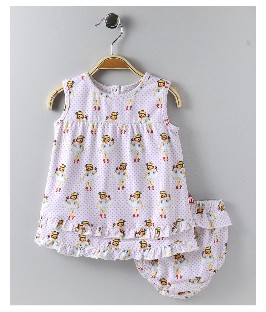 100% Organic Cotton Dress With Bloomer