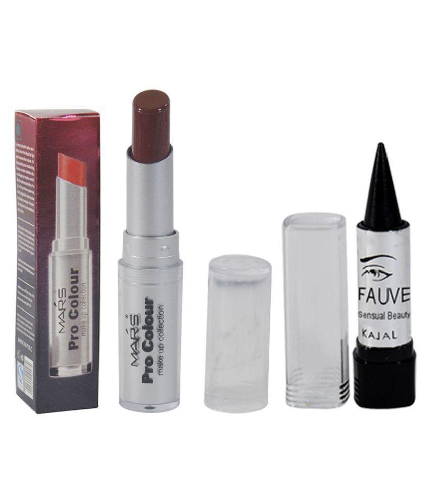 Mars GCI Free Kajal With Lipstick Brown Red 3.5 g