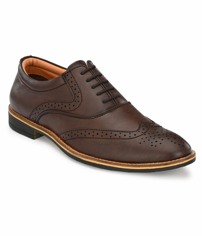 Fentacia Office Non-Leather Brown Formal Shoes