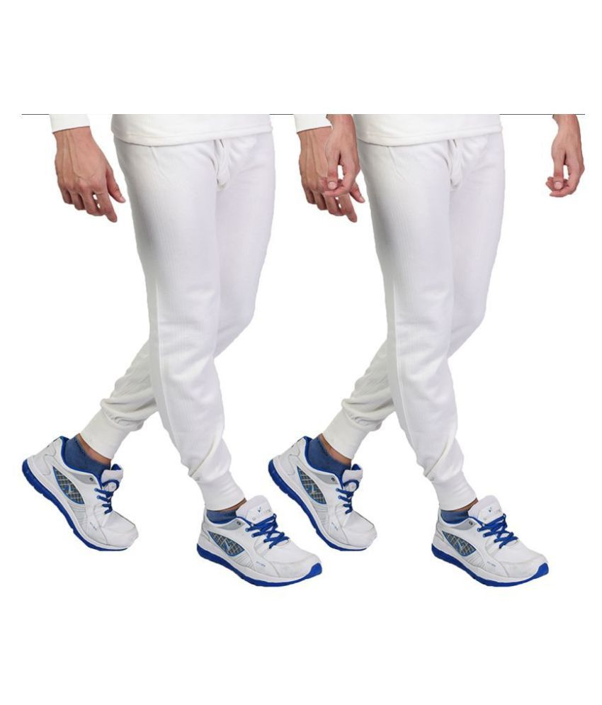 Zimfit White Thermal Lower Pack of 2