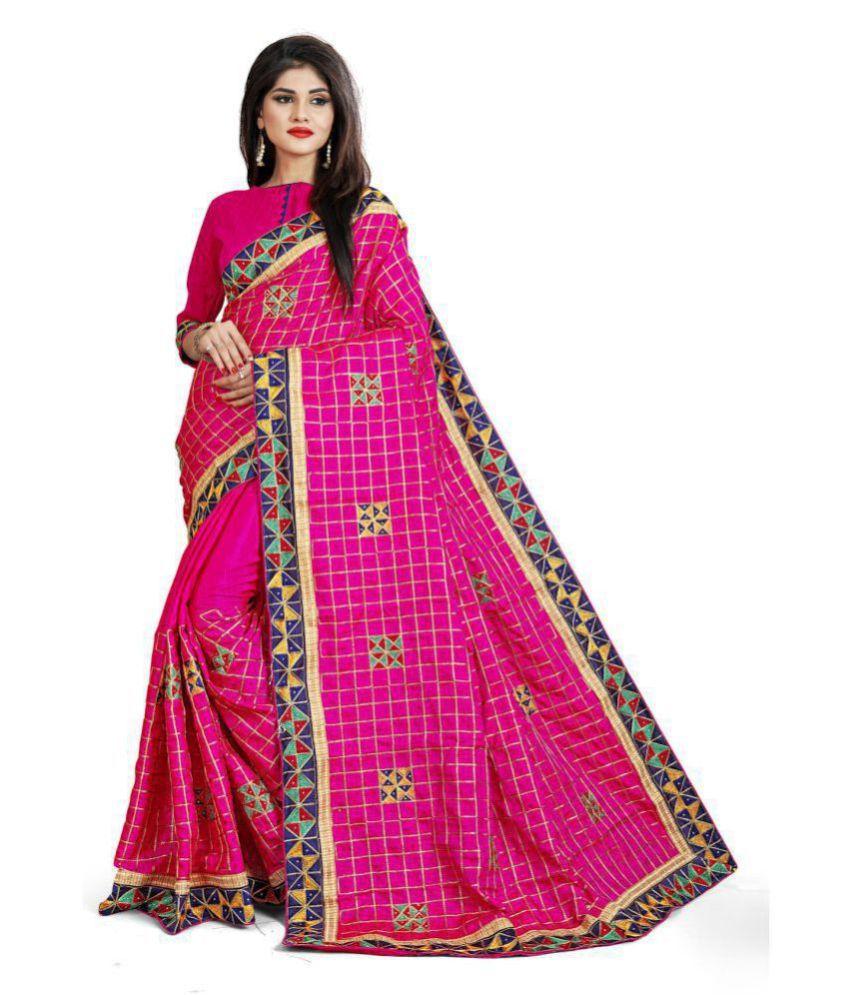 Fab Dadu Pink Silk Saree