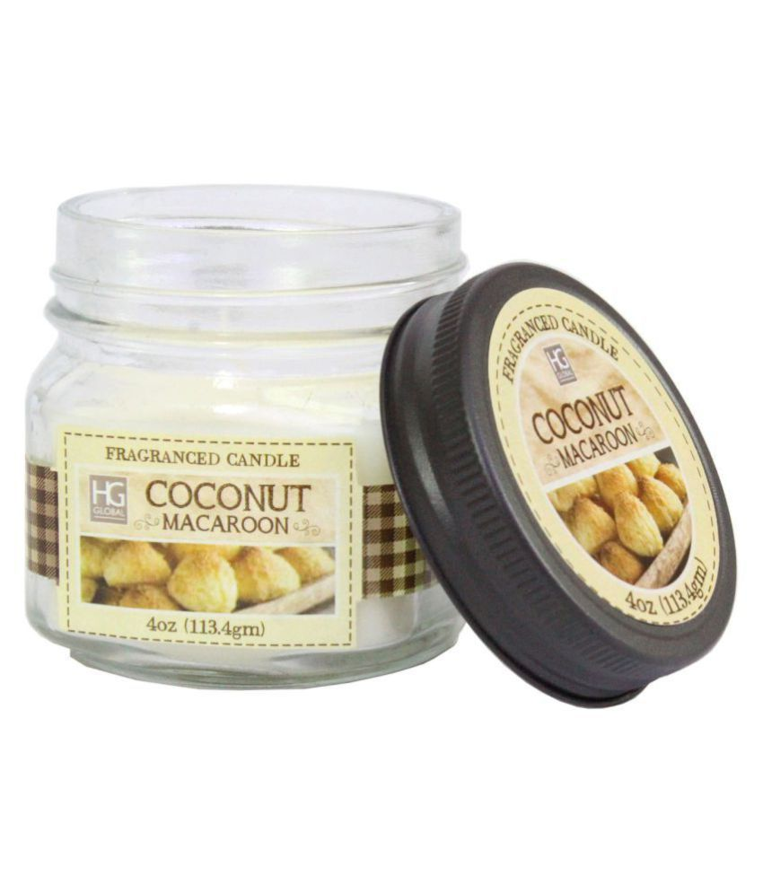Hosley White Jar Candle - Pack of 1