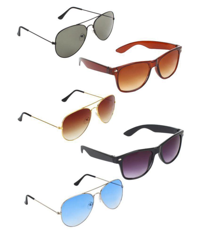 Zyaden Sunglasses Combo ( 5 pairs of sunglasses )