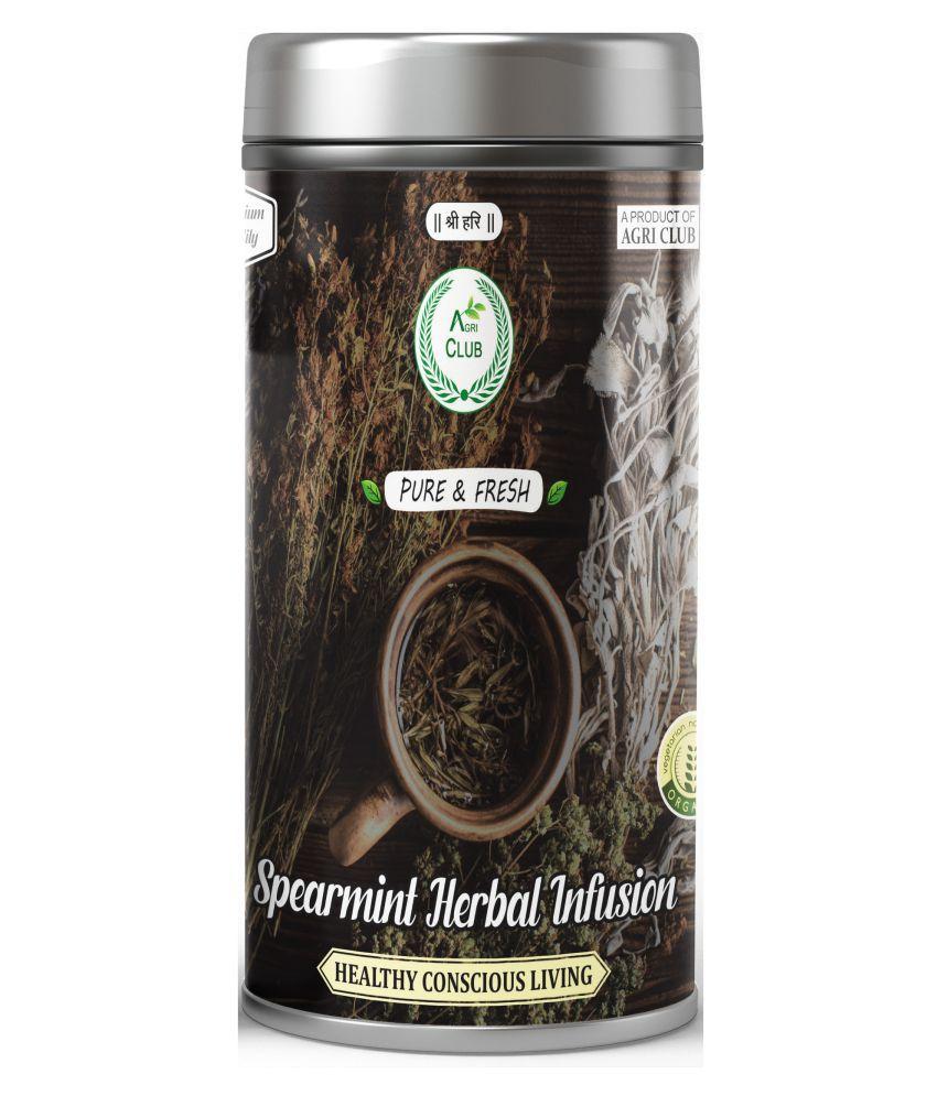 AGRI CLUB Black & Herbal Tea Loose Leaf SPEARMINT TEA 75 gm