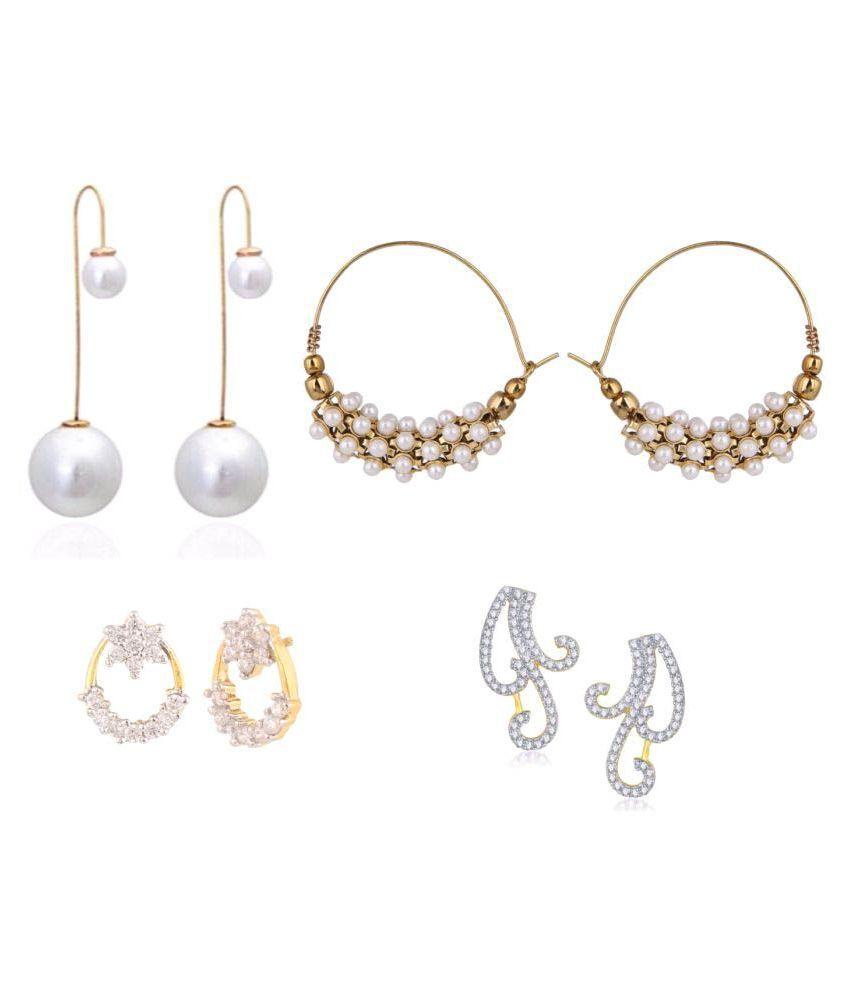 Efulgenz Combo of Earrings for Girls and Women - Pair of 4