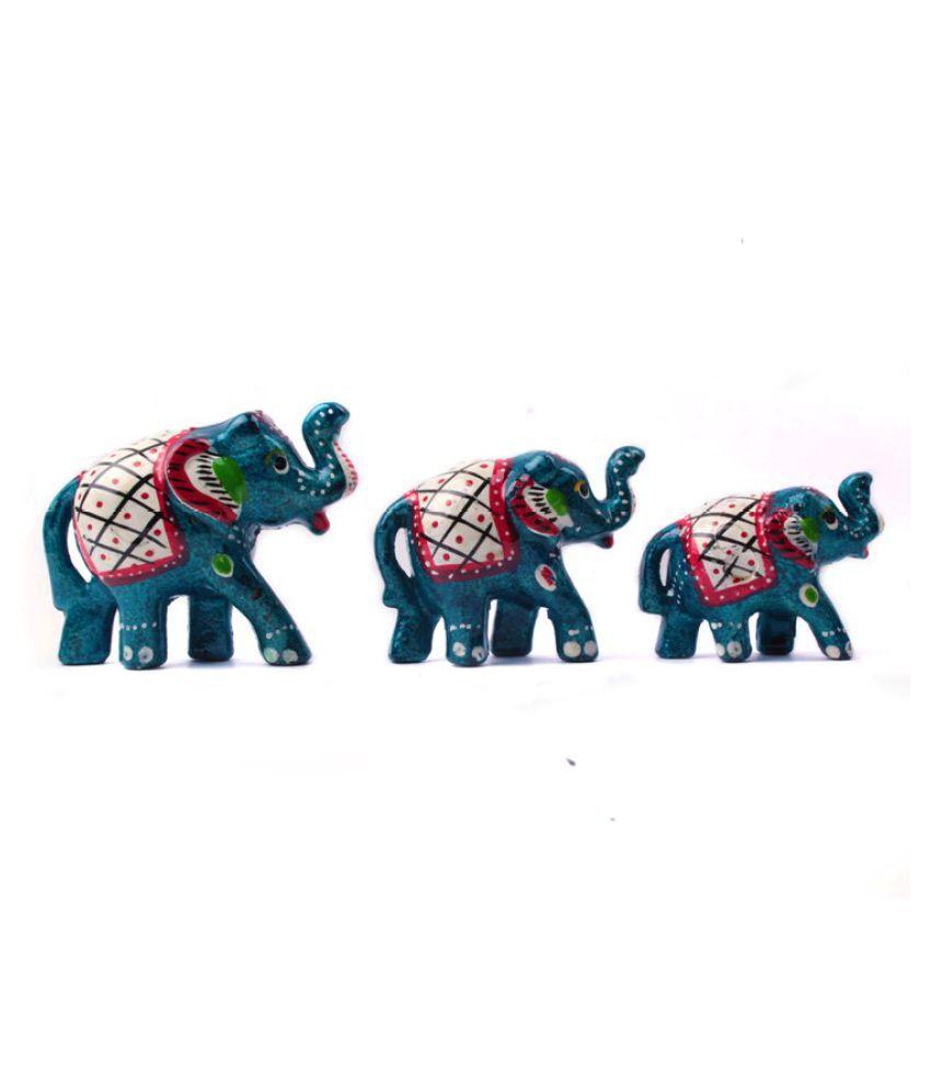Fashion Art Blue Paper Mache Figurines - Pack of 1
