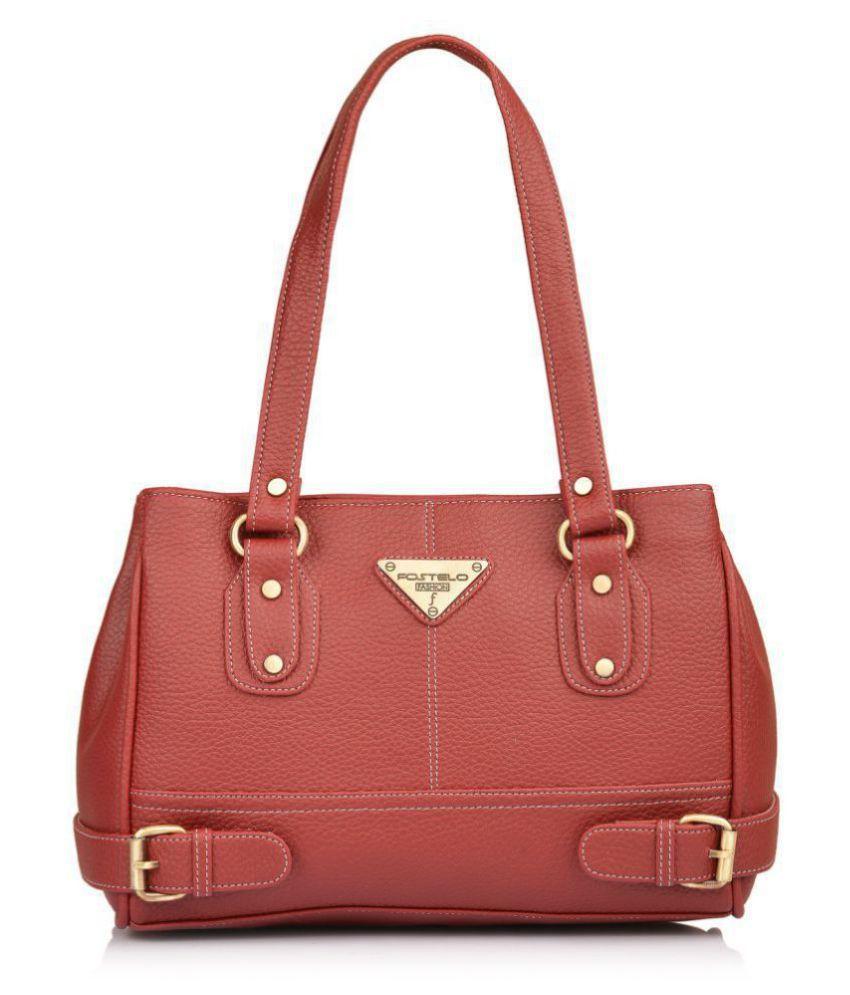Fostelo Maroon P.U. Shoulder Bag