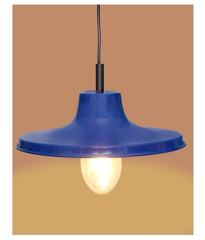 A&H Iron Plain Design Pendant Blue - Pack of 1