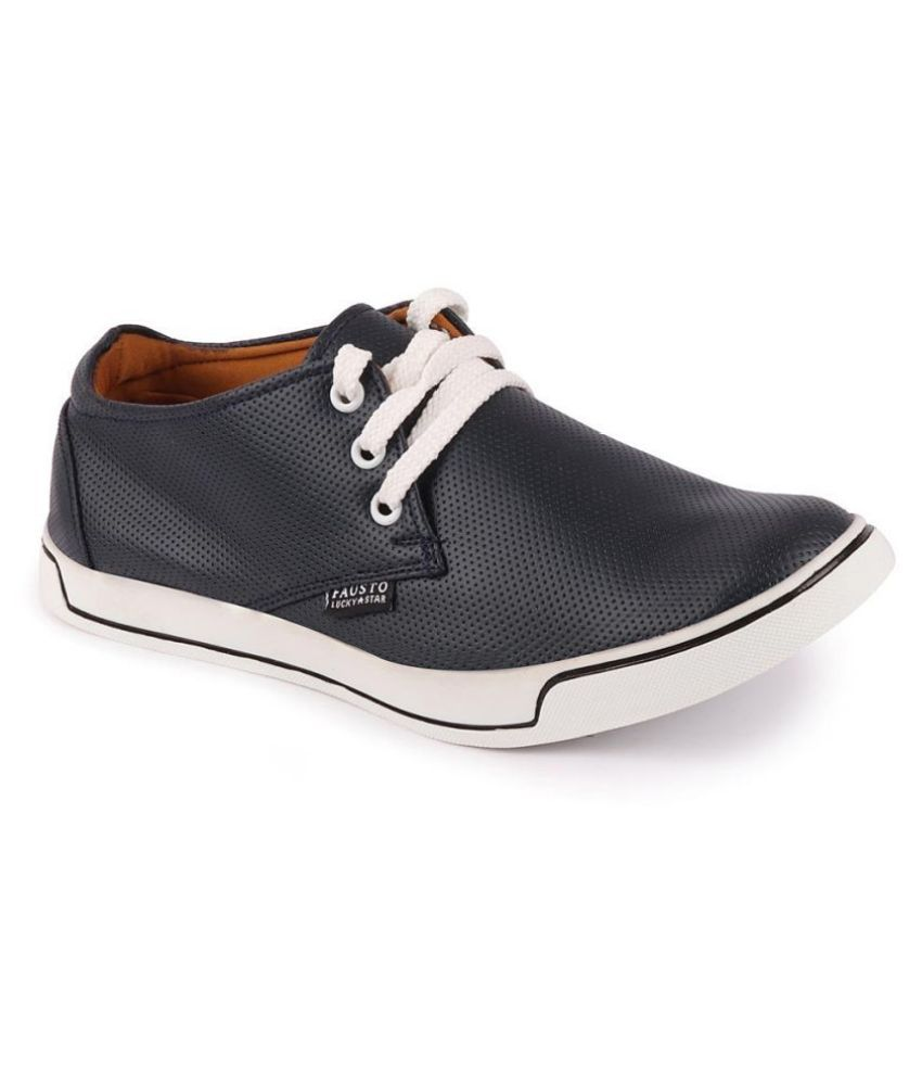 Fausto Sneakers Navy Casual Shoes