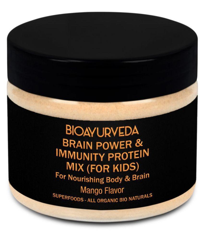 BioAyurveda Brain Power & Immunity Protein Mix (Kids) Health Drink Powder 250 gm Mango
