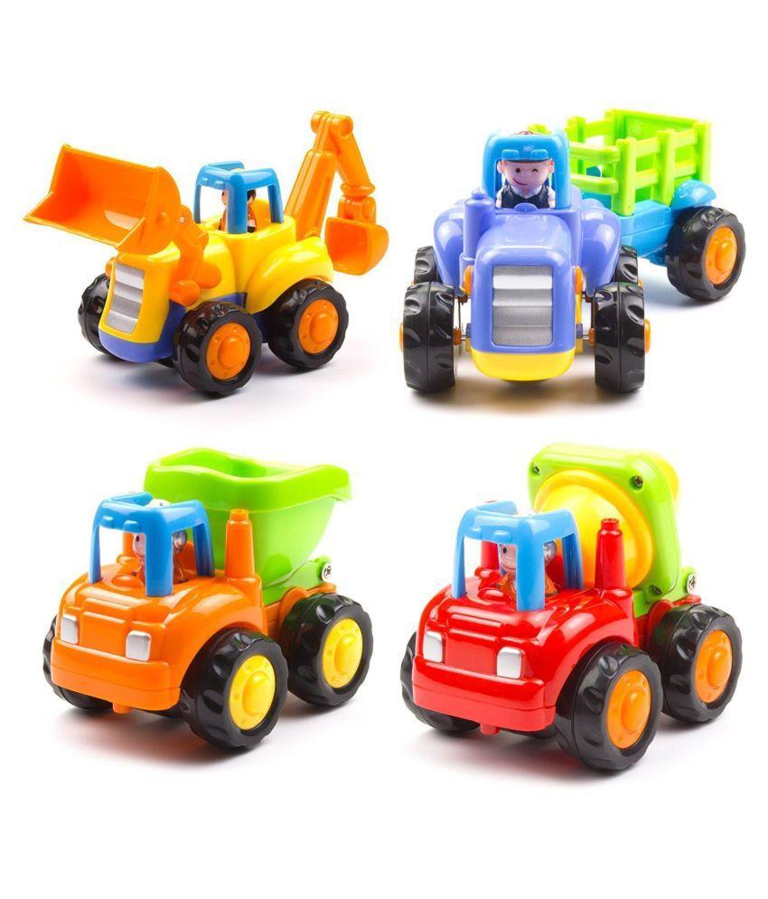 Unbreakable Construction Automobiles Toy Set (Multi-Color)