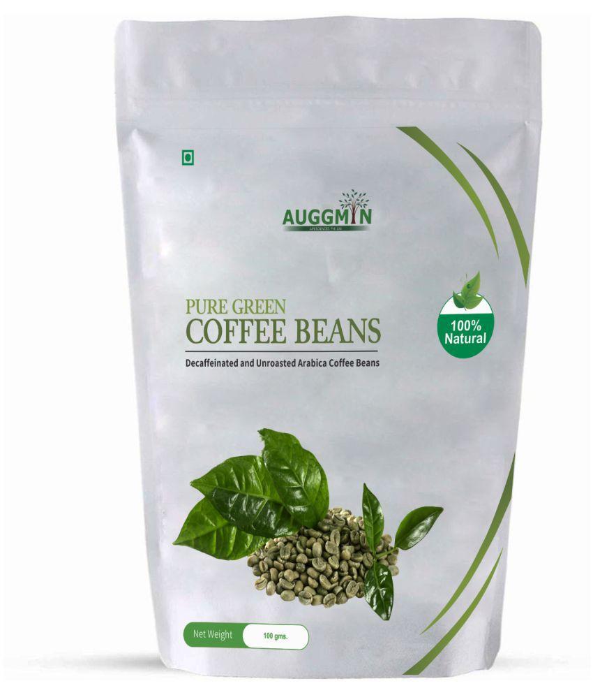 Auggmin Green Coffee Beans for Weight Management 100 gm Natural Single Pack