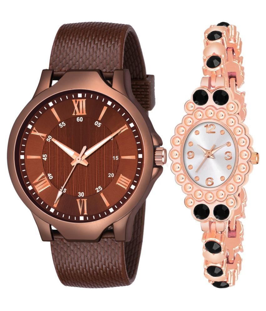 NEW K_512_981 COUPLE ANALOG QUARTZ WATCH FOR MEN AND WOMEN