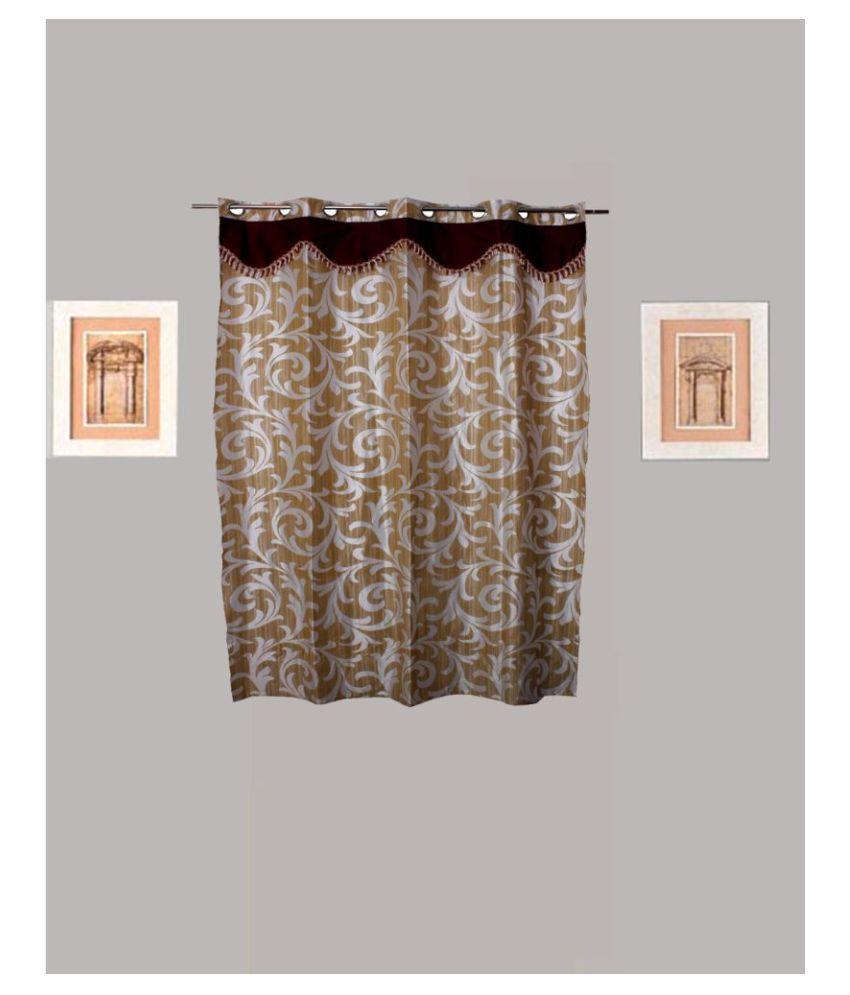 Tidy Single Window Eyelet Polyester Curtains Beige