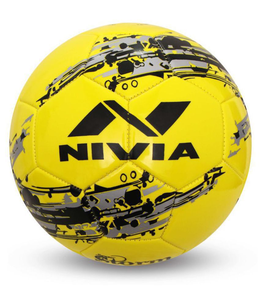 Nivia Snow Storm Yellow Football Size  5