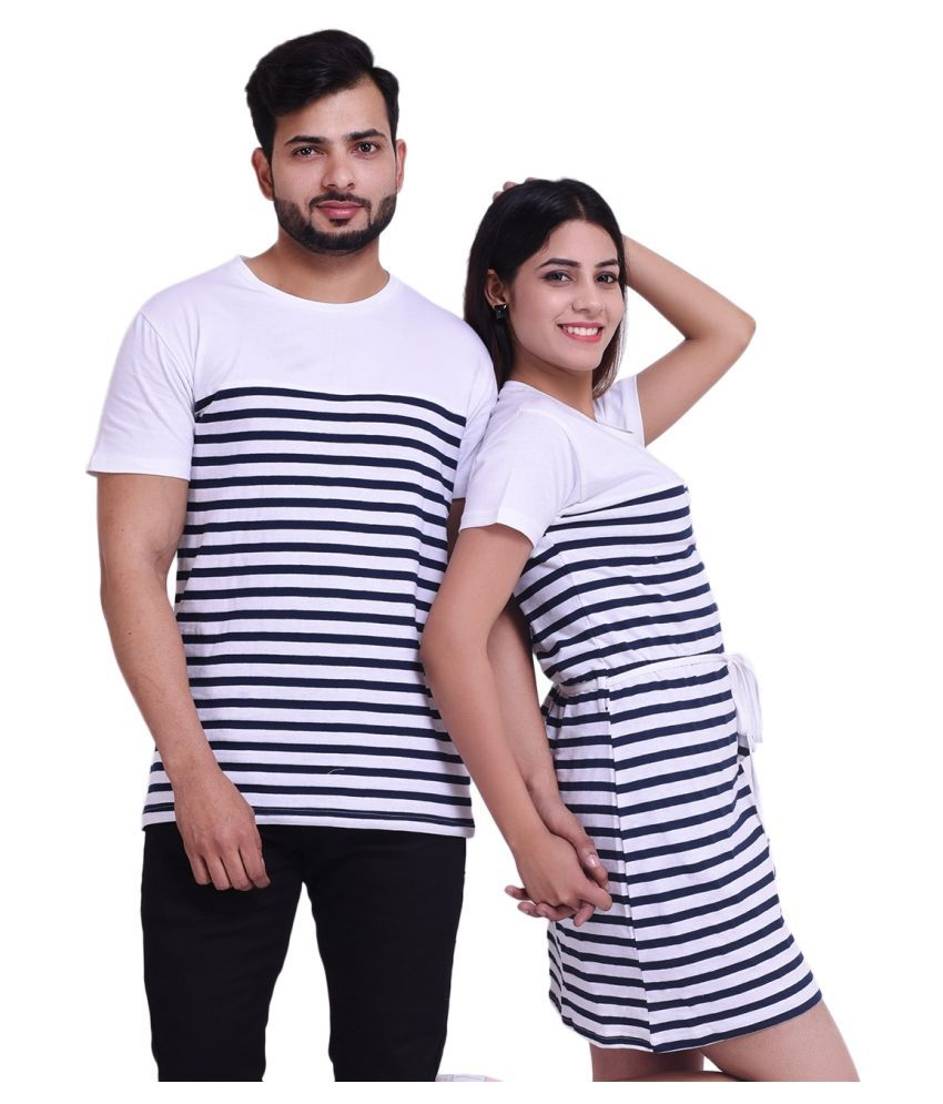 COUPLESTUFF.IN Navy Cotton blend Couple Combo