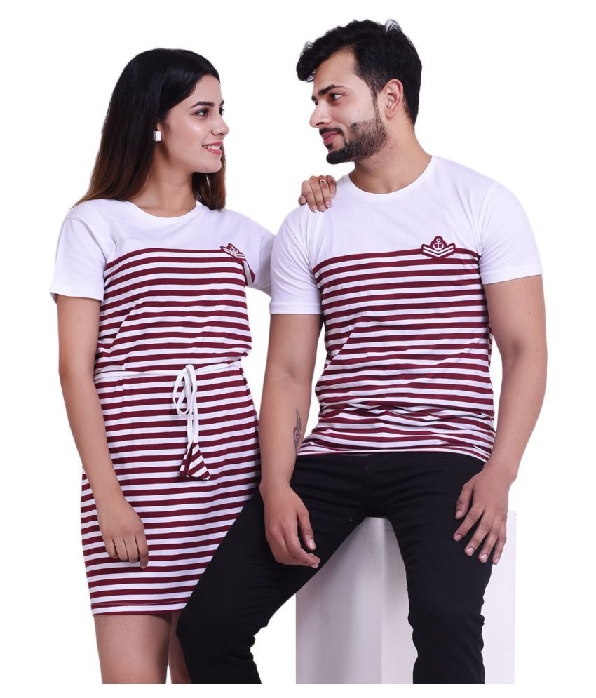 COUPLESTUFF.IN Red Cotton blend Couple Combo
