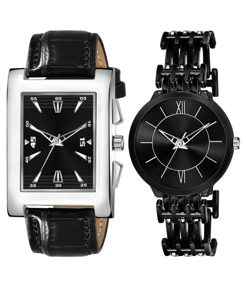 K_8124_L_853 EXCLUSIVE LEATHER STRAP ANALOG QUARTZ WATCH FOR MEN AND WOMEN