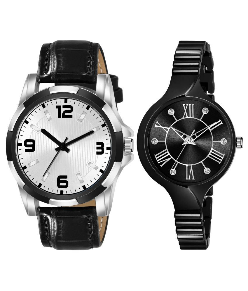 NEWK_8128_L_857 EXCLUSIVE LEATHER STRAP ANALOG QUARTZ WATCH FOR MEN AND WOMEN