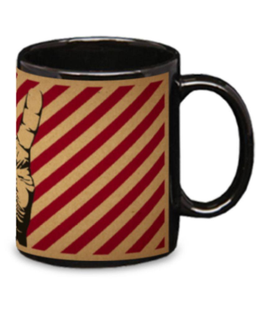 Pujya designs Ceramic Coffee Mug 1 Pcs 350 mL