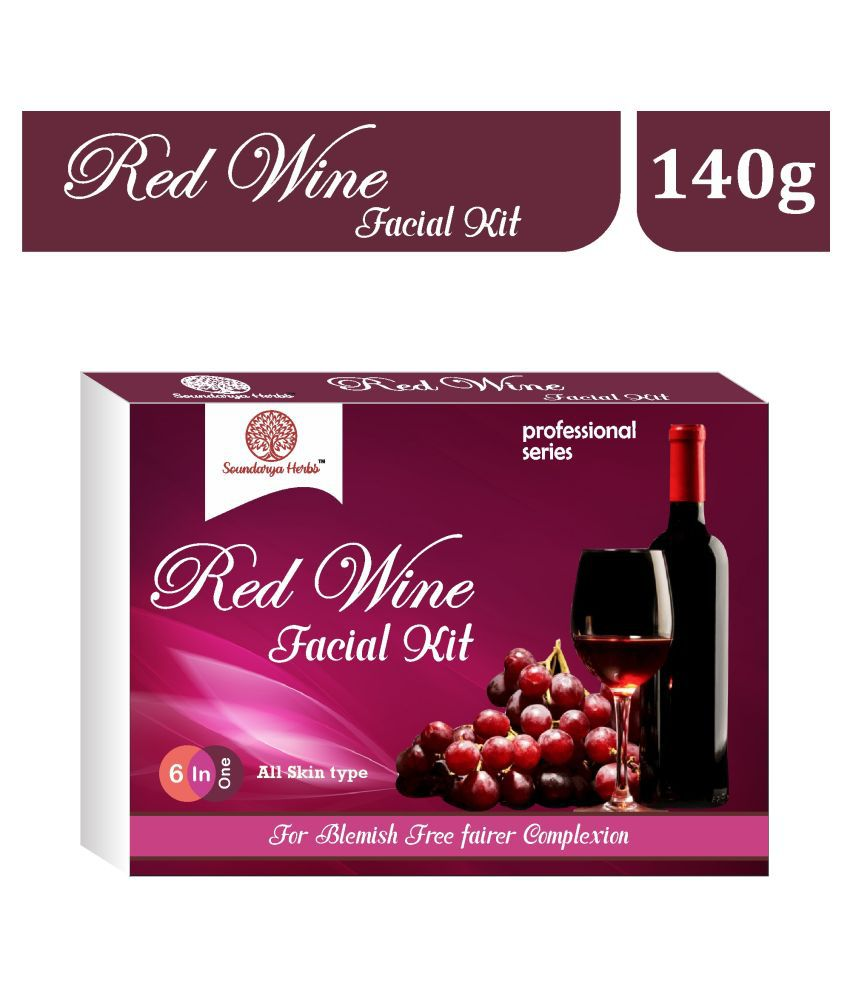 Soundarya Herbs Red Wine Age Reflect All Skin Type Facial Kit 140 g