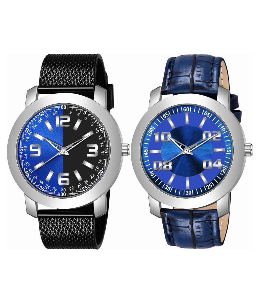 K_509_511 ANALOG QUARTZ PACK OF 2 WATCH FOR MEN AND BOYS