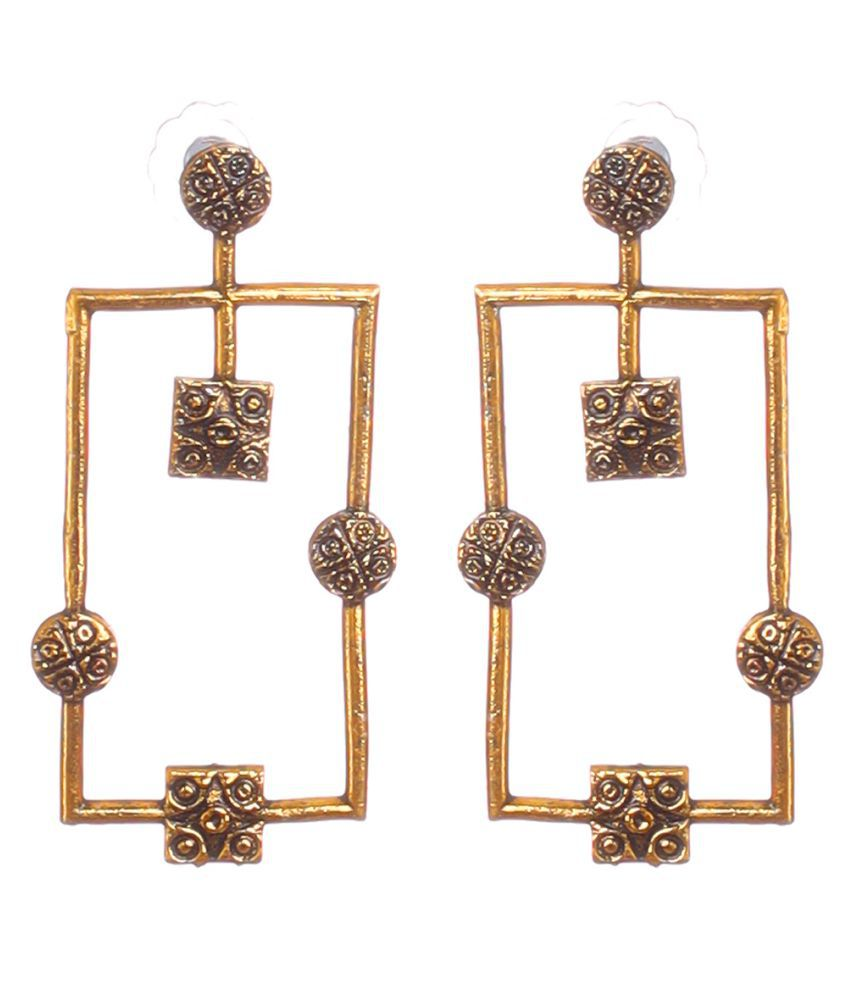BLOSSOM CHERRY Women's and Girls Trible Earring  Stud Metal Oxidisied Silver Designer fashion