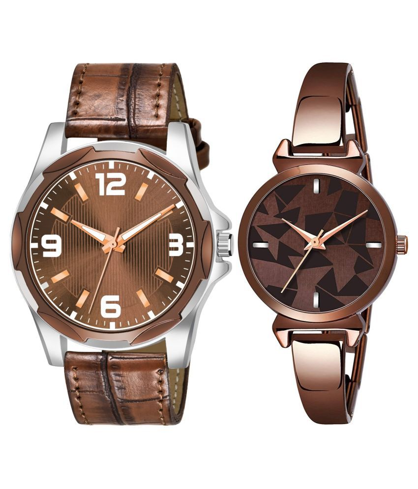 HERITA ENTERPRISES K_8132_L_720 EXCLUSIVE LEATHER STRAP ANALOG QUARTZ WATCH FOR MEN AND WOMEN