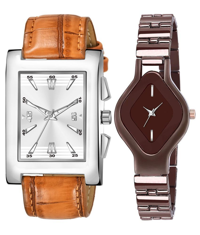 HERITA ENTERPRISES K_8133_L_713 EXCLUSIVE LEATHER STRAP ANALOG QUARTZ WATCH FOR MEN AND WOMEN