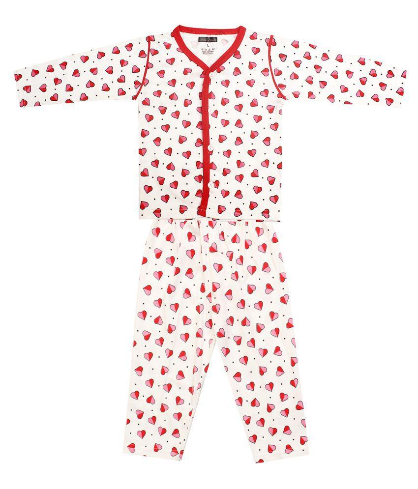 SHOPOLINE Cotton Fullsleeve Stylish Top & Full Pant Kids Apparel