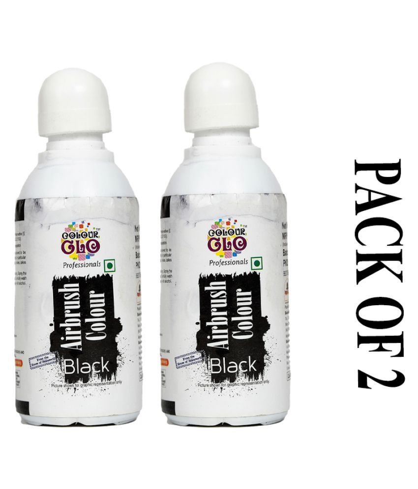 Colour Glo Professionals Black Airbrush Colour, 25 g Pack of 2