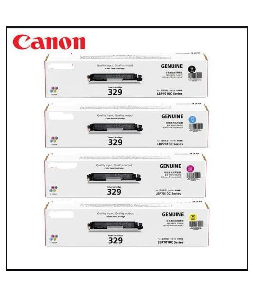 MHP Cartridges 329 Color Single Toner for Canon 329 Toner Cartridge Pack Of 4 For Use imageCLASS LBP7018C