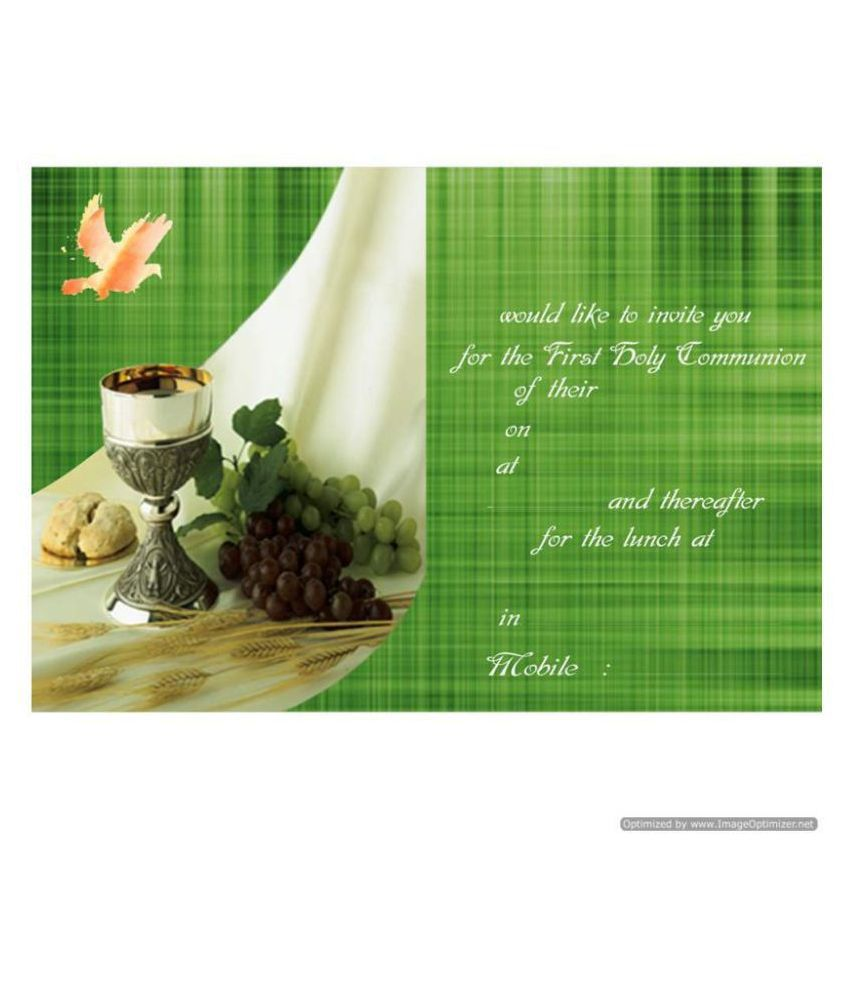 Holy Communion Themed Pack of 32 Cards – Fill in Style
