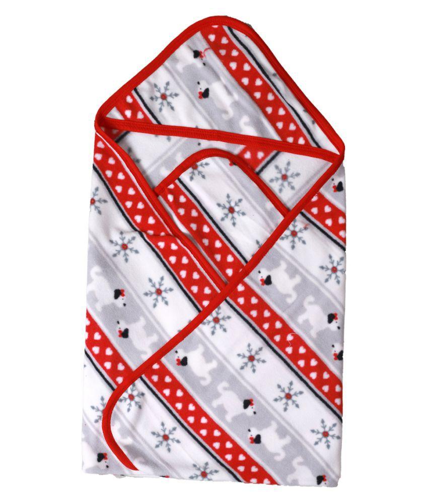 dorokids Multi-Colour Fleece Baby Wrap cum blanket ( 30 cm × 30 cm - 1 pcs)