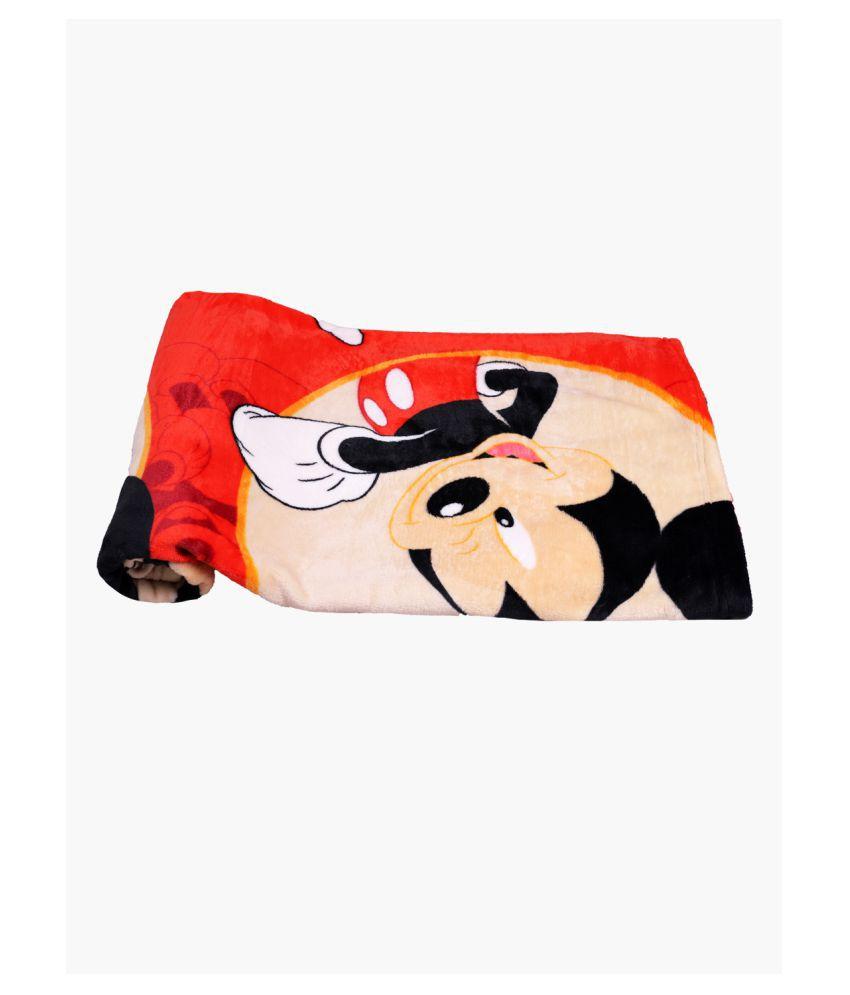 dorokids Red Fleece Baby Wrap cum blanket ( 30 cm × 30 cm - 1 pcs)