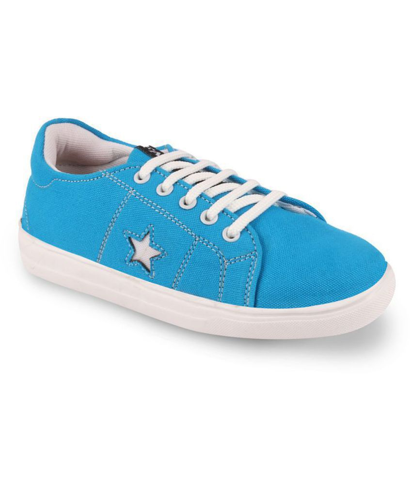 Fausto Turquoise Casual Shoes