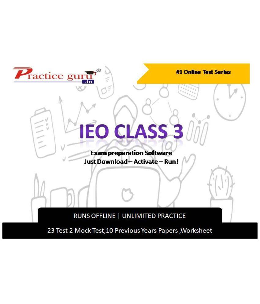 Practice Guru  23 Test 2 Mock Test,10 Previous Years Papers,20 Worksheet (Printable-PDF) for 3 Class IEO Exam  Online Tests