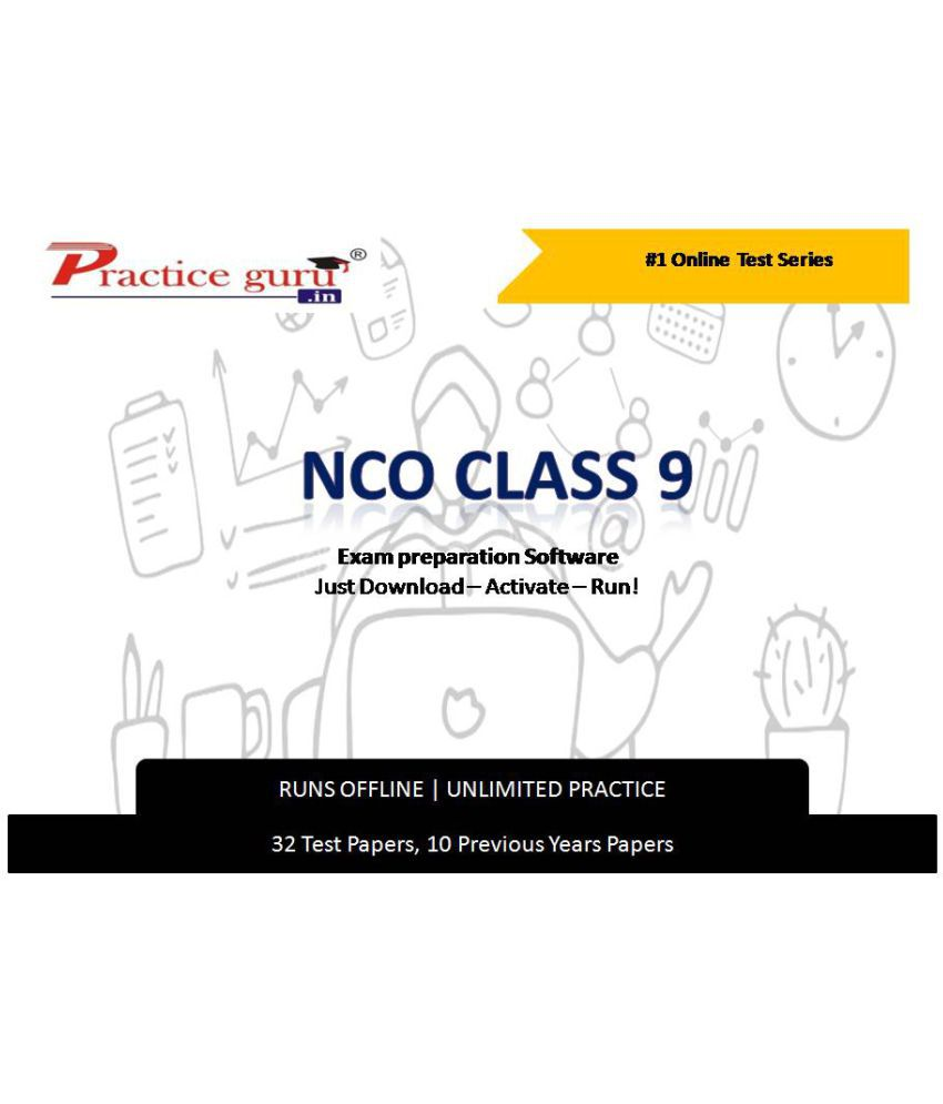 Practice Guru  32 Test ,10 Previous Years Papers  for 9 Class NCO Exam  Online Tests