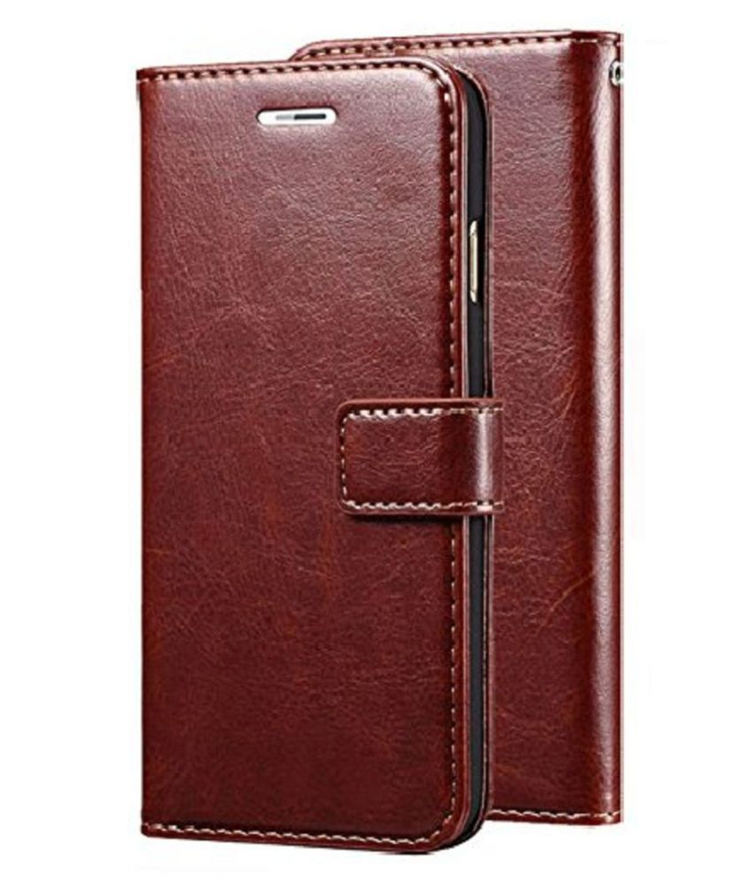 Samsung Galaxy J2  2016  Flip Cover by Doyen Creations   Brown Original Leather Wallet