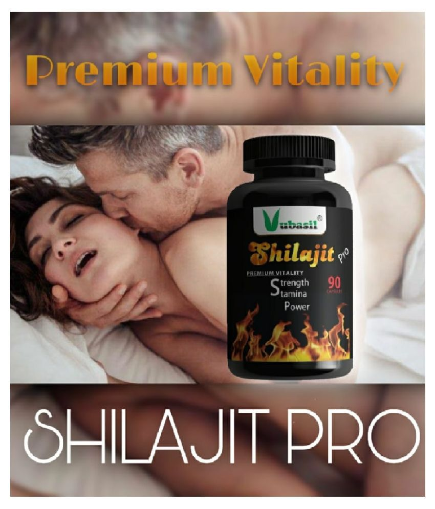 VUBASIL Shilajit PRO (90 Capsules) 100% Natural Pure & Safe Shilajeet Gold Extract with Ashwagandha Safed Musli Extracts for Strength Stamina Power Immunity 800 mg Multivitamins Capsule