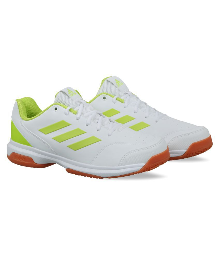Adidas White Indoor Court Shoes
