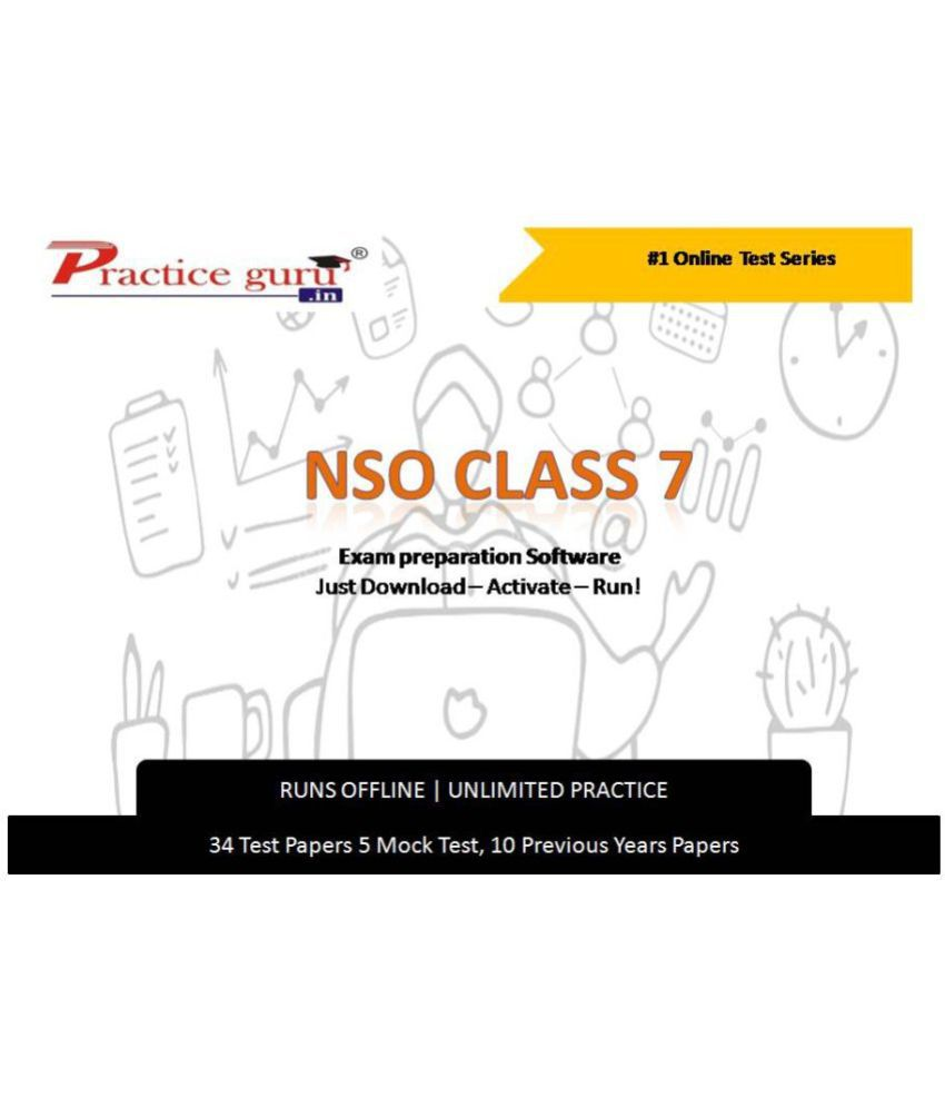 Practice Guru  34 Test 5 Mock Test,10 Previous Years Papers  for 7 Class NSO Exam  Online Tests