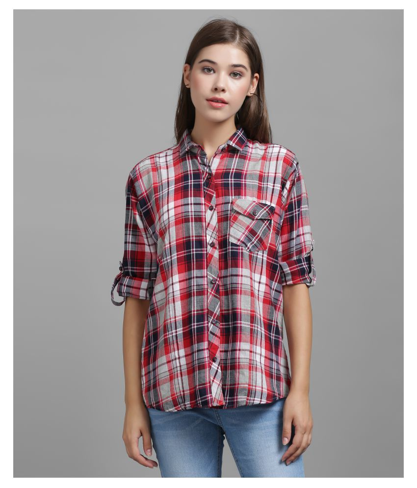 The Dry State Red Cotton Shirt