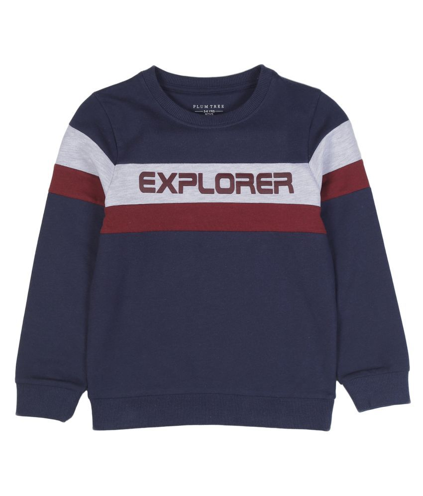 PLUM TREE BOYS PULLOVER SWEATSHIRT-NAVY