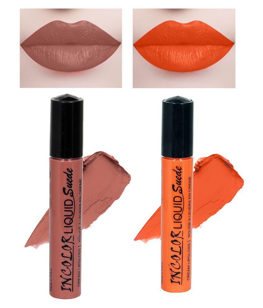 Incolor Lip Gloss Liquid Combo 02 Multi Pack of 2 6 mL