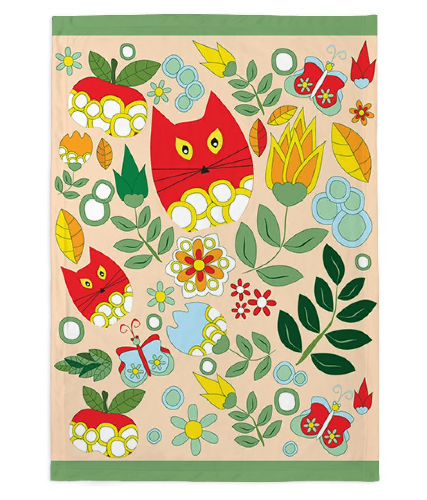 Right Gifting Self Designed Fleece Blanket For Pets (Small , 50 X 80 CM)
