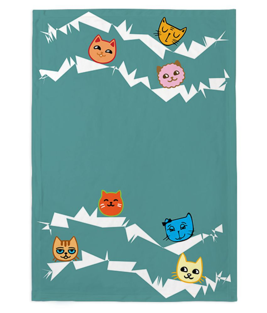 Right Gifting Self Designed Fleece Blanket For Pets (Large, 100 X 140 CM)