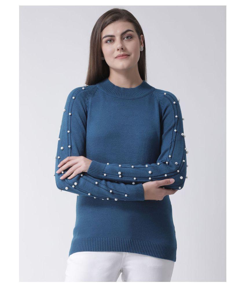 Club York Acrylic Blue Pullovers