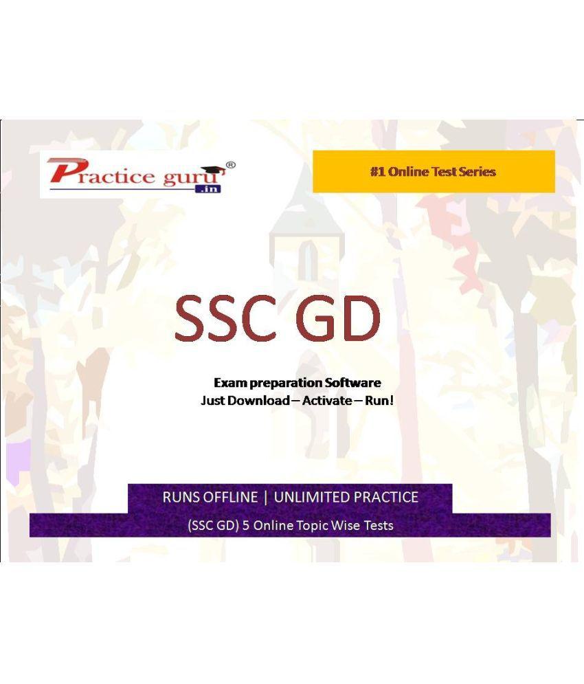 Practice Guru (SSC GD) 5 Online Topic Wise Tests  License/Redemption Code - Online